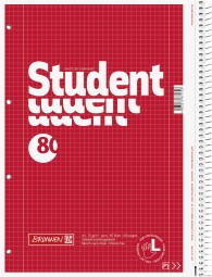 Collegeblock Student Linkshänder A4