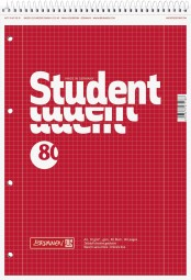 Collegeblock Student Kopfspirale A4