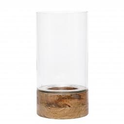 Vase mit Holzboden x-large