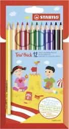 Trio thick Buntstift Set